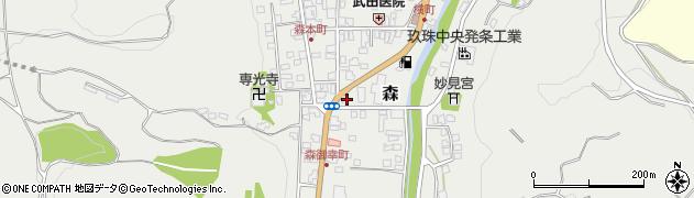大分県玖珠郡玖珠町森987周辺の地図