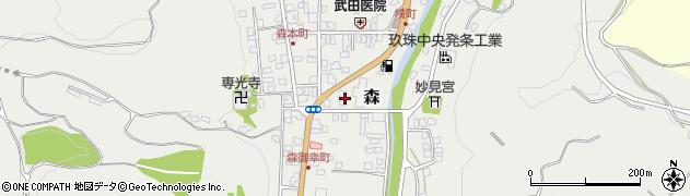 大分県玖珠郡玖珠町森985周辺の地図