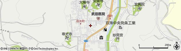 大分県玖珠郡玖珠町森972周辺の地図