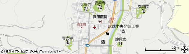 大分県玖珠郡玖珠町森969周辺の地図