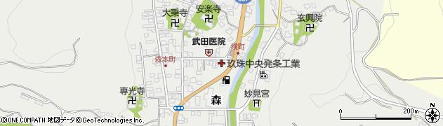 大分県玖珠郡玖珠町森960周辺の地図