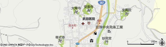 大分県玖珠郡玖珠町森947周辺の地図