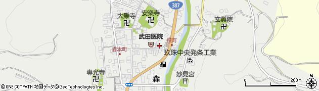 大分県玖珠郡玖珠町森957周辺の地図
