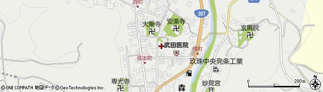 大分県玖珠郡玖珠町森金山町周辺の地図