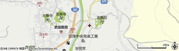 大分県玖珠郡玖珠町森678周辺の地図