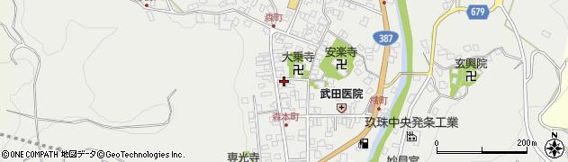 大分県玖珠郡玖珠町森926周辺の地図