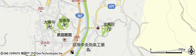 大分県玖珠郡玖珠町森572周辺の地図