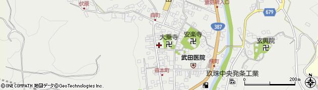 大分県玖珠郡玖珠町森周辺の地図