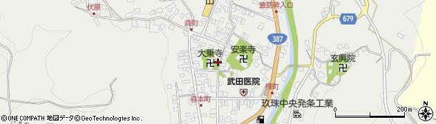 大分県玖珠郡玖珠町森758周辺の地図