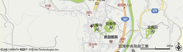 大分県玖珠郡玖珠町森922周辺の地図