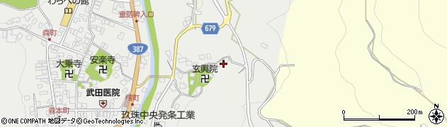大分県玖珠郡玖珠町森528周辺の地図