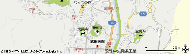 大分県玖珠郡玖珠町森鉄砲町周辺の地図