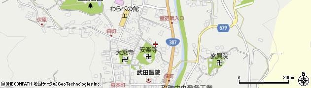 大分県玖珠郡玖珠町森732周辺の地図
