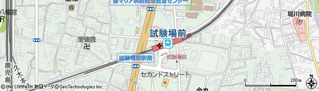 福岡県久留米市周辺の地図