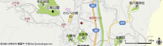 大分県玖珠郡玖珠町森738周辺の地図