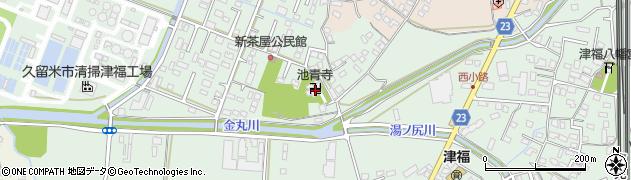 池青寺周辺の地図
