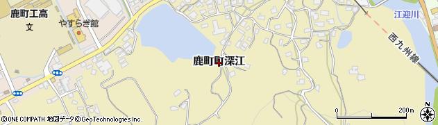 長崎県佐世保市鹿町町深江周辺の地図