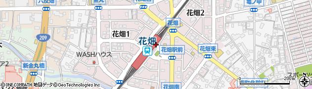 福岡県久留米市花畑周辺の地図