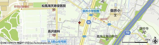 福岡県久留米市御井町周辺の地図