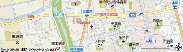 佐賀県神埼市神埼町枝ヶ里周辺の地図