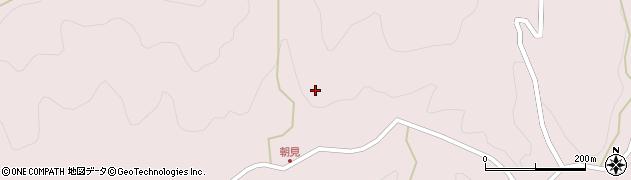 大分県玖珠郡玖珠町戸畑朝見周辺の地図