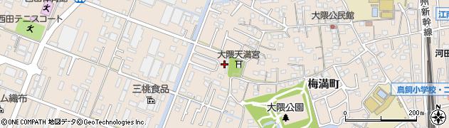 福岡県久留米市梅満町周辺の地図