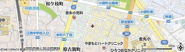 福岡県久留米市原古賀町周辺の地図