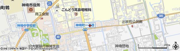 佐賀県神埼市一丁目周辺の地図