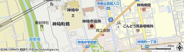 佐賀県神埼市周辺の地図