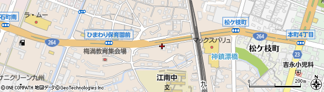 福岡県久留米市白山町周辺の地図