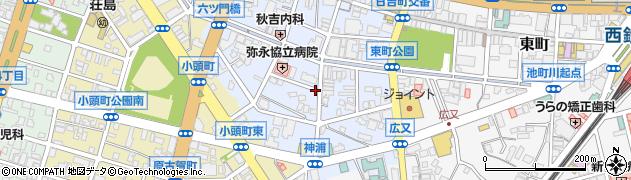 福岡県久留米市六ツ門町周辺の地図