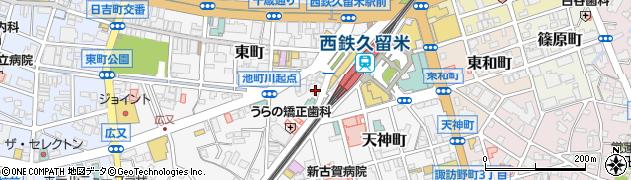 あんじゅ美容室西鉄駅前店周辺の地図
