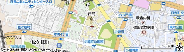 福岡県久留米市小頭町周辺の地図