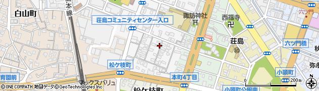 福岡県久留米市荘島町周辺の地図