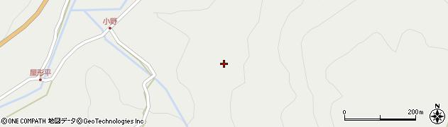 大分県玖珠郡玖珠町森小野周辺の地図