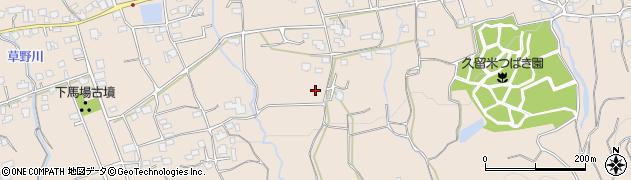 福岡県久留米市草野町周辺の地図