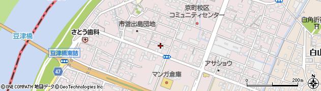 福岡県久留米市大石町周辺の地図