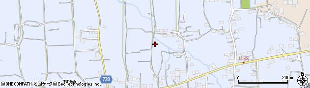 福岡県久留米市山本町(耳納)周辺の地図
