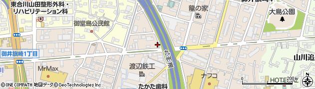 福岡県久留米市御井旗崎周辺の地図