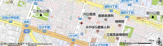 福岡県久留米市日吉町周辺の地図