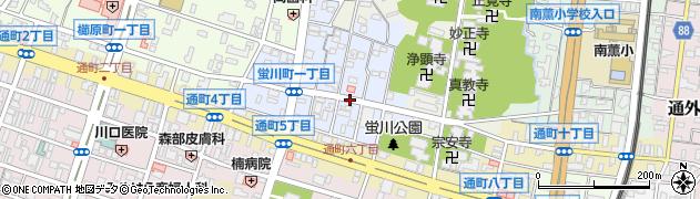 福岡県久留米市螢川町周辺の地図