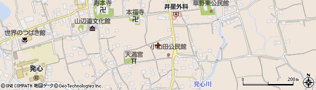 福岡県久留米市草野町(草野)周辺の地図
