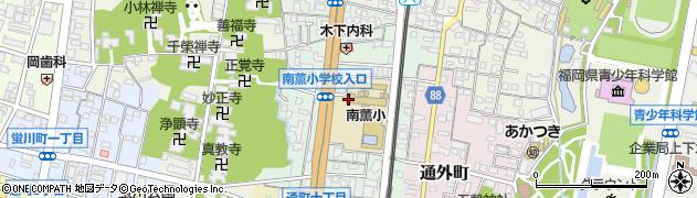 福岡県久留米市南薫西町周辺の地図