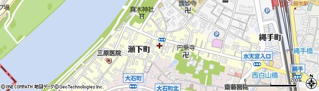 福岡県久留米市瀬下町周辺の地図