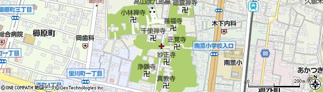 福岡県久留米市寺町周辺の地図