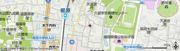福岡県久留米市南薫町周辺の地図