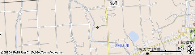 福岡県久留米市草野町(矢作)周辺の地図