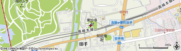 東妙寺周辺の地図