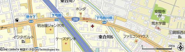 マンガ倉庫久留米店周辺の地図