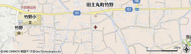 福岡県久留米市田主丸町竹野周辺の地図